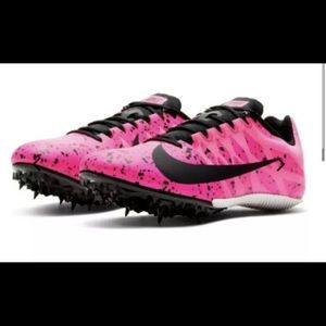 Nike Zoom Rival S 9 Neon Pink Track Running Shoes